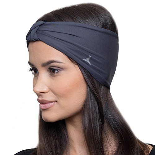 Yoga Headbands for Women / Sweatband for Sports, Workout or Running, Insulates and Absorbs Sweat, Head Bands for Girls from French Fitness - Gifts Running Women For