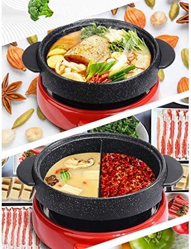 Grills électriques, Hot Pot Électrique Hot Pot Barbecue Type Split Un Pot Maison Multi-fonction Grande Capacité Petit Dortoir Plug-in Maifan Stone Pot Électrique, B