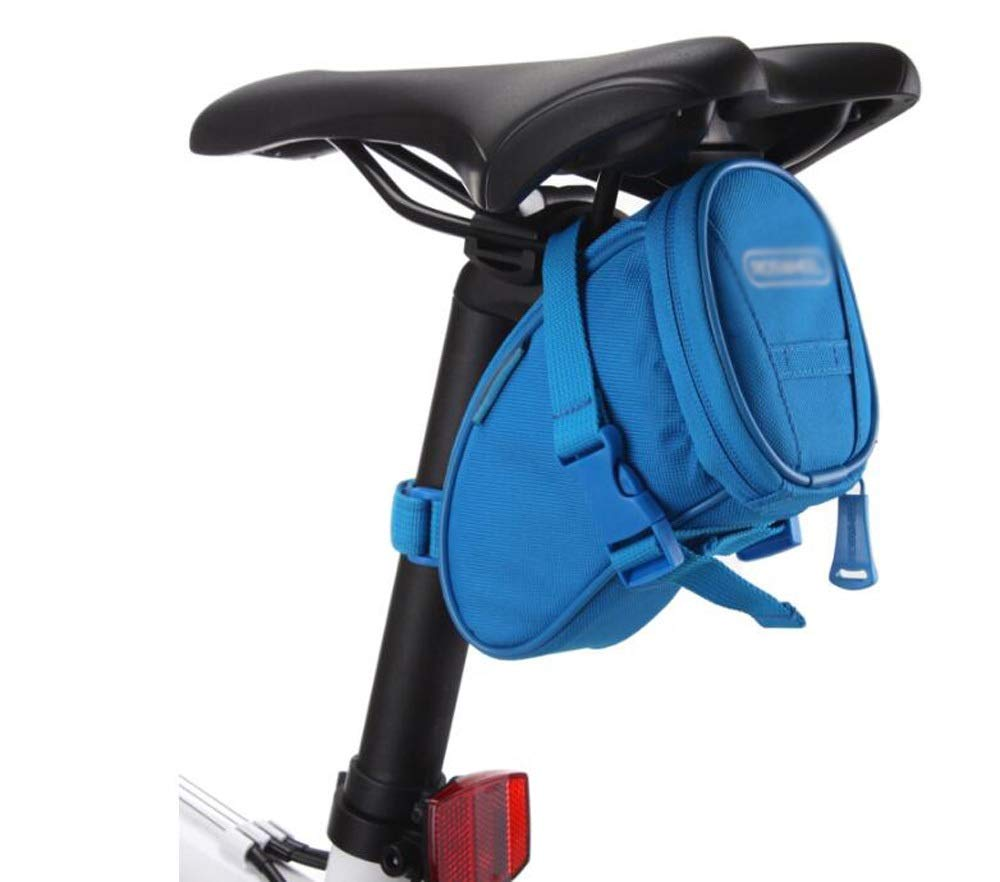 Nwn 自転車テールバッグ マウンテンロードバイク マルチカラーサドルバッグ 折りたたみ自転車ライディングアクセサリー ブルー 34864 ブルー