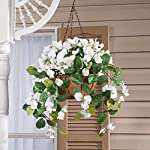 OakRidge-Fully-Assembled-Artificial-White-Wisteria-Hanging-Basket-10-Diameter-with-18-Long-Chain-PolyesterPlastic-Flowers-in-MetalCoco-Fiber-Liner-Basket-IndoorOutdoor-Use