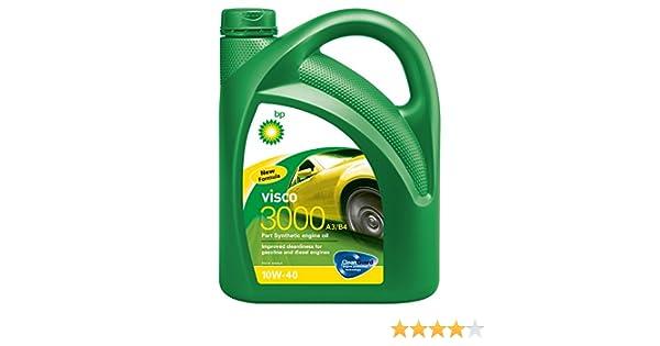 Aceite lubricante para coche Bp Visco 3000 A3/B4 10W40 5 litros: Amazon.es: Coche y moto