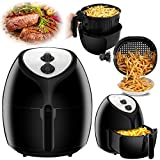 SUPER DEAL 5.8 Quarts Extra Large Air Fryer XL with Recipes & CookBook, Temperature Control, Non-stick Detachable Dishwashable Basket, Accurate Manual dials, Auto Shut off, 5.5 L Capacity