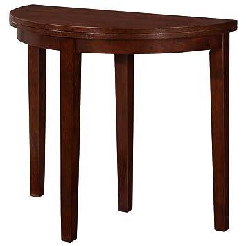 4d concepts springfield flip half moon dining table in antique oak amazon com  4d concepts springfield flip half moon dining table in      rh   amazon com
