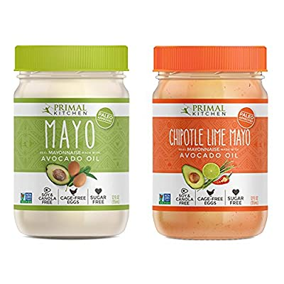 Primal Kitchen Mayo Combo Pack - Original and Chipotle Lime Mayo with Avocado Oil (12 Oz. each) by Primal Kitchen