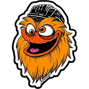 Gritty Philadelphia Decal – for Cars, Laptops, and More! – Use Inside or Outside – Sticks to Any Flat Smooth Surface