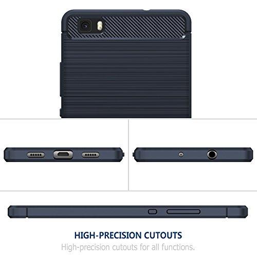 Funda Huawei P8 lite, Simpeak Funda Huawei P8 lite carcasas Huawei P8lite funda cases Suave TPU Anti deslizamiento (5,0 Pulgadas), Azul Azul