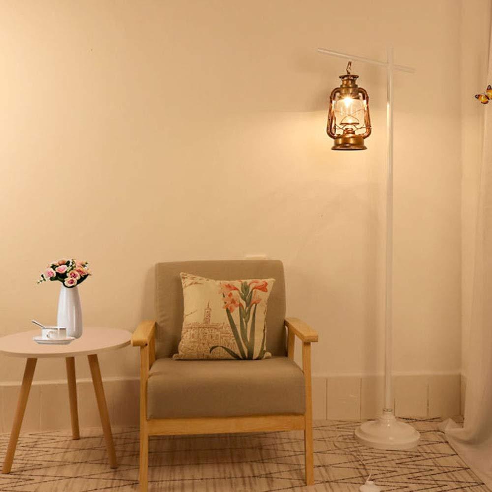 WYQSZ Floor Lamp Simple Retro Floor Lamp Fashion Living Room Bedroom Bed Vertical Floor Lamp -6146 Table lamp (Color : White)