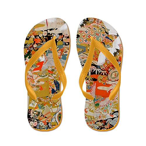 Cafepress Lussuoso Kimono Giapponese Antico Per F - Infradito, Sandali Infradito Divertenti, Sandali Da Spiaggia Arancione