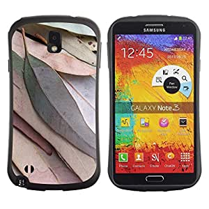 Fuerte Suave TPU GEL Caso Carcasa de Protección Funda para Samsung Note 3 N9000 N9002 N9005 / Business Style Leaves Autumn Fall Green Nature Tree