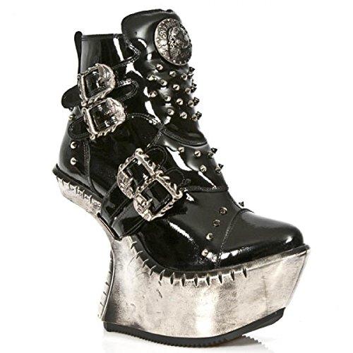 Nuovi Stivali Di Roccia M.ext010-c2 Gotiche Damen Hardrock Punk Stiefel Schwarz