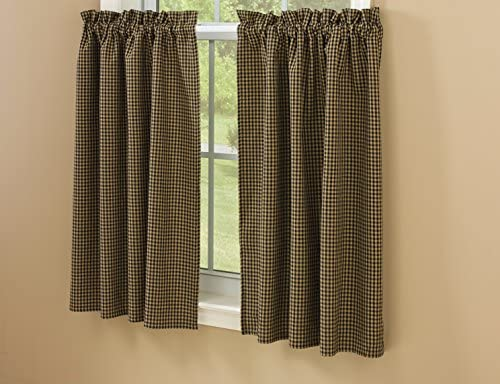 Park Designs Sunflower Check Lined Tier, 72 x 36