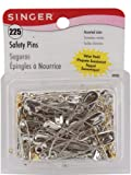 Safety Pins-Sizes 00-3 225/Pkg - Safety Pins-Sizes 00-3 225/Pkg. Singer-225 Safety Pins In A Resealable Container. Pins Are Brass Plated And Nickel Plated. Sizes 00 0 1 2 And 3. Warning: This Is A Sh