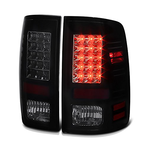 VIPMotoZ 2013-2017 Dodge RAM 1500 2500 3500 Smoke Lens Factory LED Model Taillights Taillamps, Driver and Passenger (Dodge Ram 1500 Laramie)