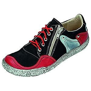 Miccos Shoes womens Low shoes Black/Red size 42.0 EU