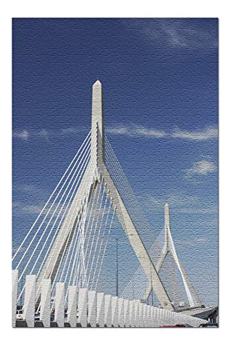 Zakim Bridge Boston, Massachusetts Photography A-91116 (20x30 Premium 1000 Piece Jigsaw Puzzle, Made in USA!)