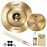 "SABIAN HH Remastered Cymbal Variety Pack: 14"" HH Fusion Hi-Hats (11450) & 22"" AAX Omni (2220MX) with Accessories"