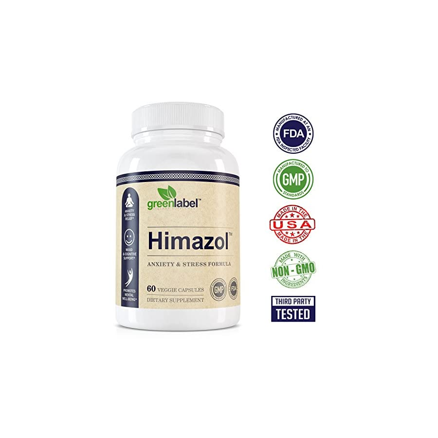 Himazol, Anxiety Relief And Stress Supplement. 60 Capsules.