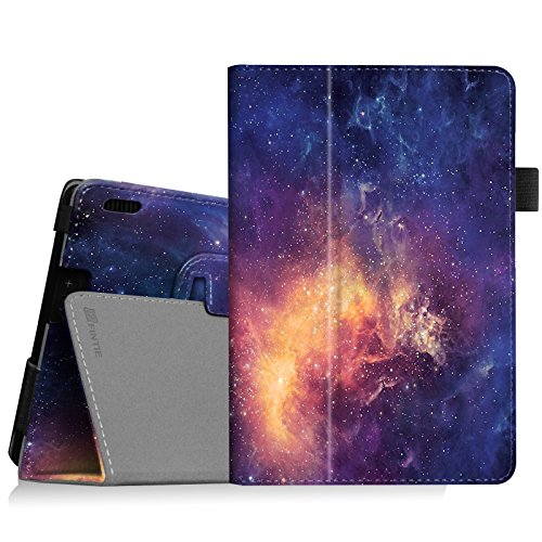 Fintie Folio Case for Fire HDX 7 - Slim Fit Leather Standing Protective Cover with Auto Sleep/Wake (Will only fit Kindle Fire HDX 7 2013), Galaxy