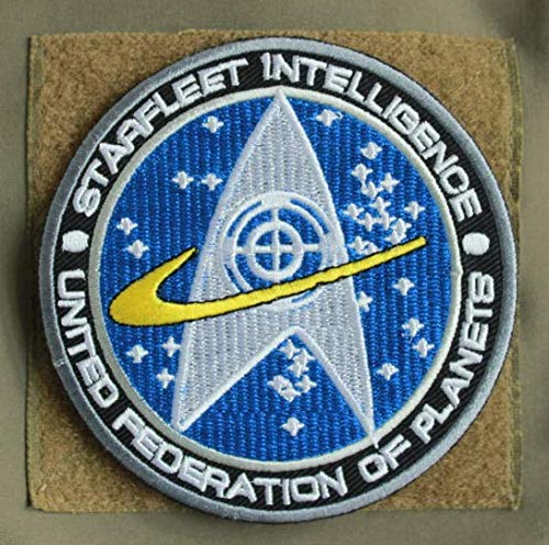 Star Trek Starfleet Intelligence Military Patch Fabric Embroidered Badges Patch Tactical Stickers for Clothes with Hook & Loop]()