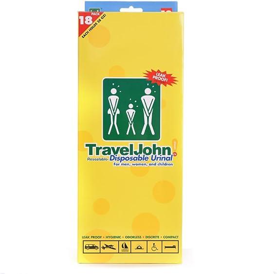 TravelJohn Travel John Disposable Emergency Sick Urine Vomit Bags Unisex 5 Pack