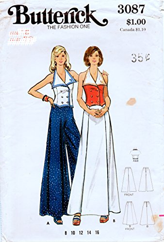 Butterick 3087 Misses Sailor Top with Maxi Skirt or Pants Sewing Patterns Check Offers for Size ()