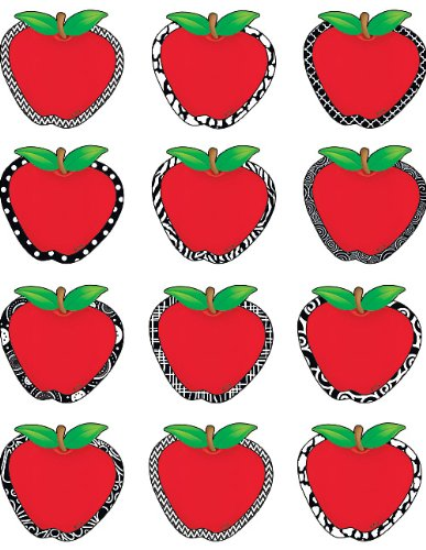 Best Teacher Apple - Teacher Created Resources Fancy Apples Mini Accents (5484)