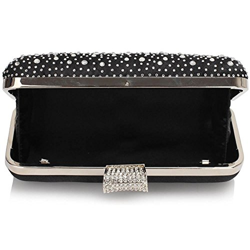 Evening Bag LeahWard Purse Crystal Sparkly Out BLACK Women's For Sparkly SILVER Prom CWE00286 Pary Bag Satin Night Evening Clutch Bw1TI4x1q