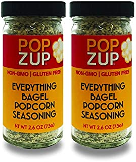product image for Popzup Everything Bagel- No Hard Chunks, Addicting Taste, Pure & Simple Ingredients (Nothing Fake), Gluten-Free, Non-GMO, Stay-Fresh Glass Shaker Jar