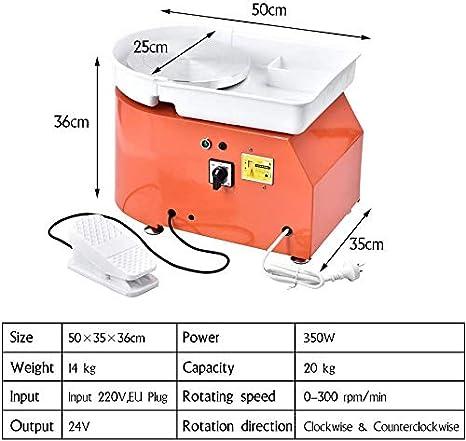 Certificat CE S SMAUTOP Roue de Poterie /Électrique 350W 25cm Poterie de Table Formant la Machine avec poign/ée et p/édale 220V pour Bricolage et Artisanat en c/éramique