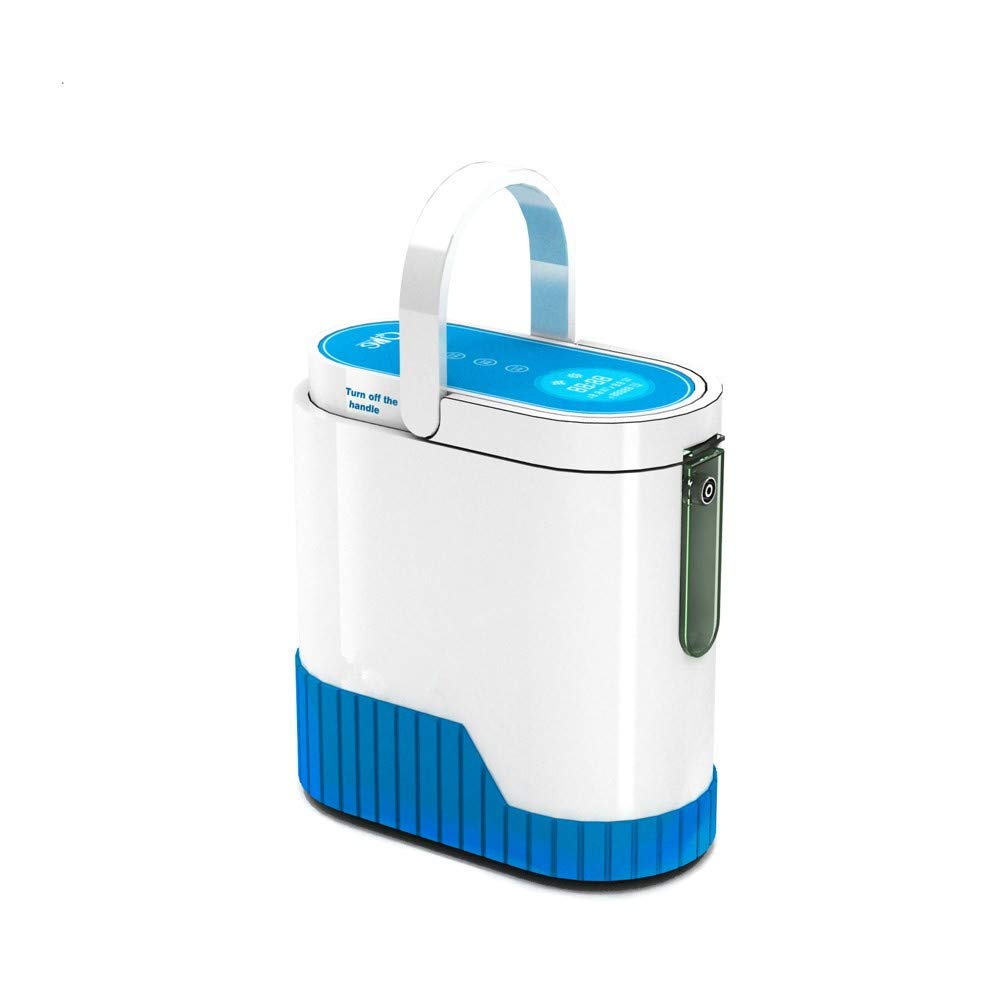 Portable Oxygen Concentrator for Travel,1-5L/min Adjustable Portable Oxygen Machine for Home Use, AC 110V Air Humidifiers Battery and car Operated (Home use)