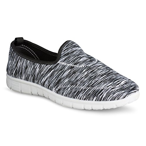 Twisted Womens Comfort Flex Slip On Walking Shoe Yogabl