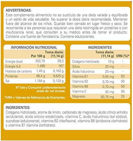 Colágeno Epaplus para Articulaciones con Silicio y Ácido Hialurónico INSTANT (334 gramos, sabor limón)