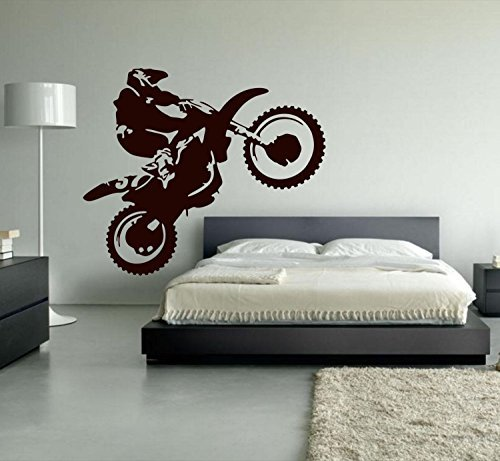chengdar732 Motocross Wall Decal Dirt Bike Vinyl Wall Decor Decoration Motorcycle Sports Wall Stickers For Living Room Bedroom