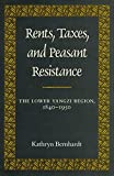 img - for Rents, Taxes, and Peasant Resistance: The Lower Yangzi Region, 1840-1950 by Kathryn Bernhardt (1992-02-01) book / textbook / text book