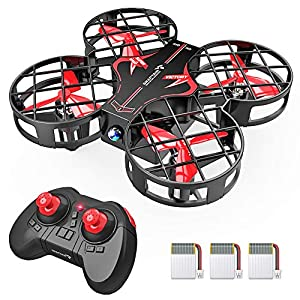 SNAPTAIN H823H Plus Portable Mini Drone for Kids, RC Pocket Quadcopter with Altitude Hold, Headless Mode, 3D Flip, Speed Adjustment and 2 Extra Batteries