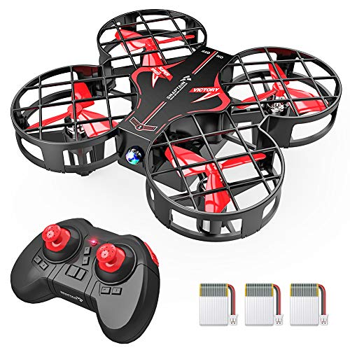 SNAPTAIN H823H Plus Portable Mini Drone for Kids, RC Pocket Quadcopter with Altitude Hold, Headless Mode, 3D Flip, Speed Adjustment and 3 Batteries