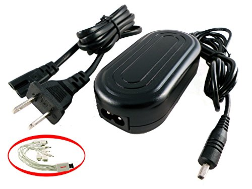 iTEKIRO AC Adapter Power Supply Cord for Samsung SC-DC565 SC-DC575 SC-DC575/XAA SC-DX100 SC-DX103 SC-DX105 SC-DX200 SC-DX205 SC-HMX10 SC-HMX10A SC-HMX10C SC-HMX10C/XAA SC-HMX10CN SC-HMX10ED SC-HMX10N Video Cameras Camcorders + iTEKIRO 10-in-1 USB Charging Cable