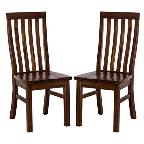 Hillsdale 4321-804KD Outback Dining Chair Set (Set of 2), Distressed Chestnut