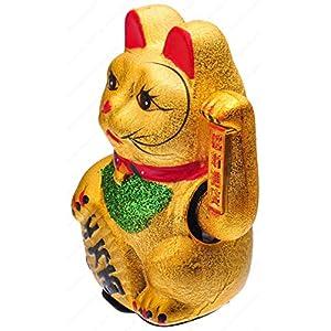 M.V. Trading MCAT101V Beckoning Ceramic Maneki Neko Lucky Cat, 7-Inches