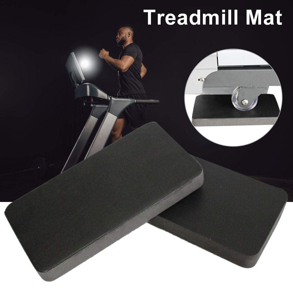 Rotary Bikes Funarrow 6PCS Treadmill Mat Sound Insulation Cushion Exercise Equipment Mat with High Density Rubber Impact Protection and Anti-Slip Function for Sports Bikes Rowing Machines