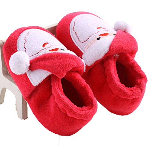 Usstore 1 Pair Kid Baby Infant Toddler Newborn Prewalker Christmas Shoes (0~6 Month)