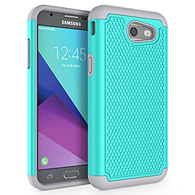 Galaxy J3 Emerge Case, Galaxy J3 2017 Case, SYONER [Shockproof] Defender Phone Case Cover for Samsung Galaxy J3 Emerge, Galaxy J3 2017 released from SYONER