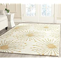 Safavieh Bella Collection BEL123A Handmade Beige and Gold Premium Wool Area Rug (8 x 10)