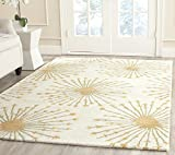 Safavieh Bella Collection BEL123A Handmade Beige and Gold Premium Wool Area Rug (5' x 8')