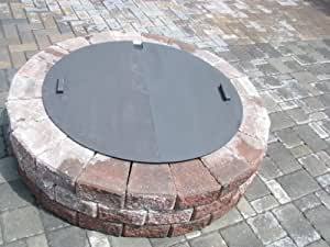 "Amazon.com : New Round Steel Fire Pit Cover 50"" diameter 14g : Garden & Outdoor"