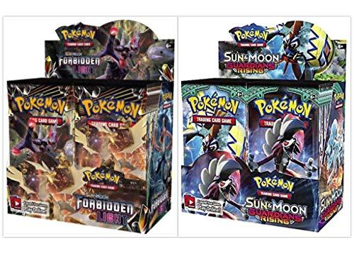 Pokémon TCG Sun & Moon Forbidden Light Booster Box + Sun & Moon Guardians Rising Booster Box Pokémon Trading Cards Game Bundle, 1 of Each