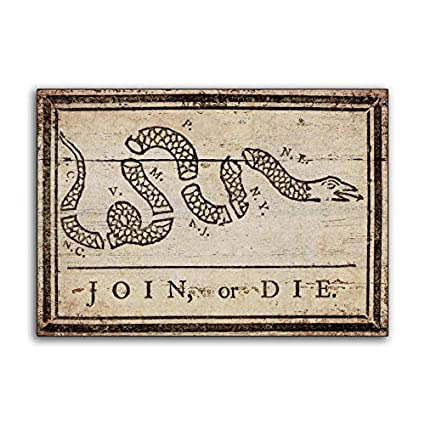 Amazoncom Celycasy Join Or Die Benjamin Franklin Wood Snake Sign