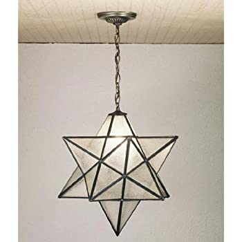 meyda tiffany moravian star pendant mahogany bronze finish with clear seedy art - Star Pendant Light