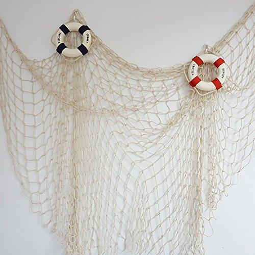 Bilipala Fishing Net Fishing Net Decor Wall Decor Nautical Style 75 Inch Creamy White Buy