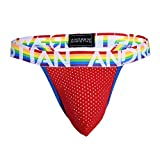 Andrew Christian Pride Mesh Y-Back Thong White/Red/Blue